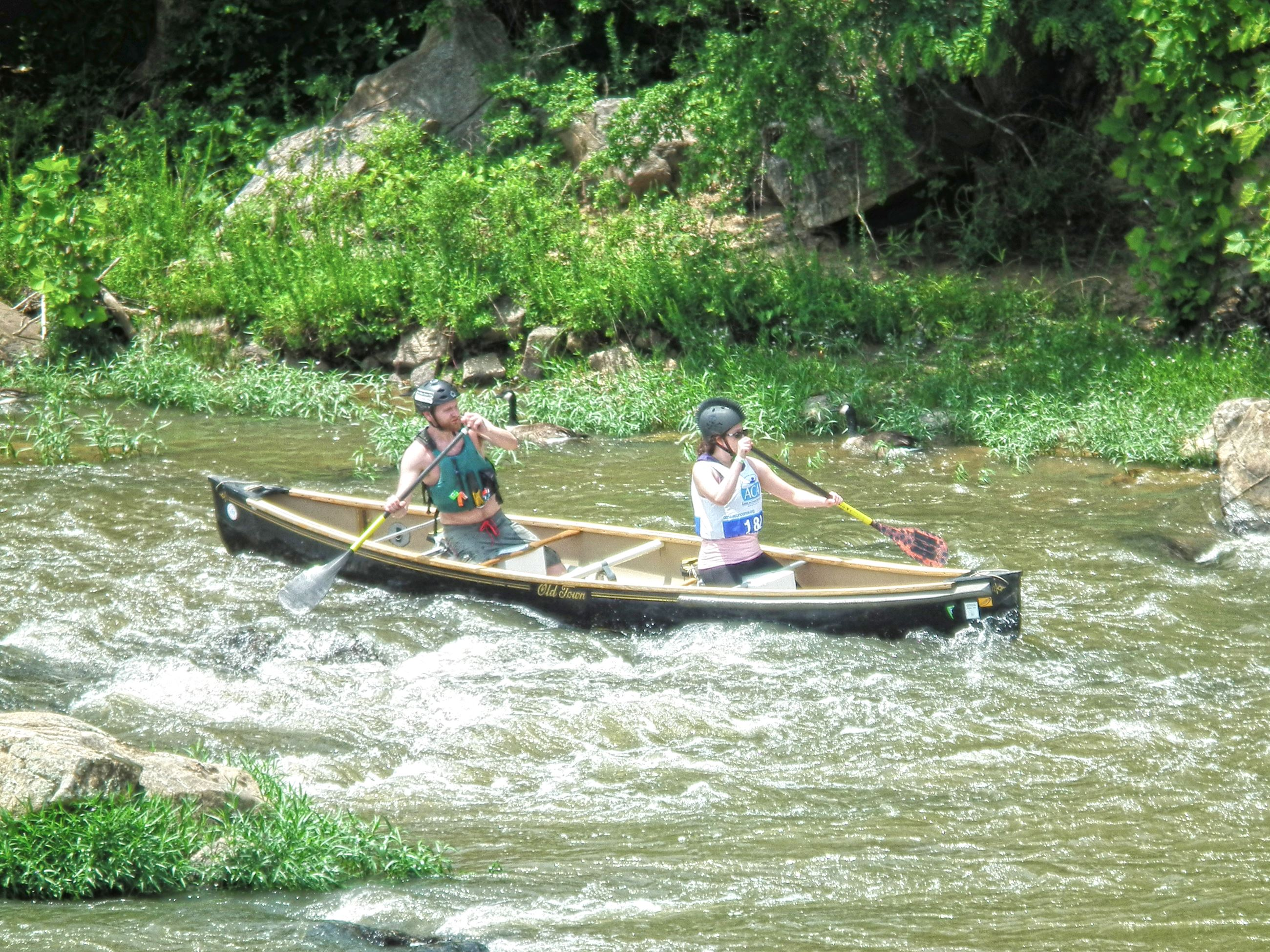 Rappahannock River Canoe Action