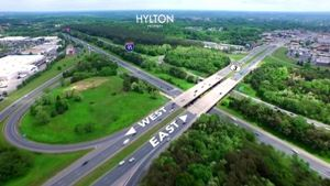 Aerial of Hylton Property located in Fredericksburg.